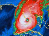 Infrared Image of Wilma on Florida.