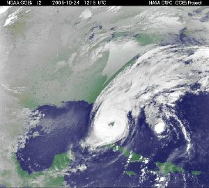 Satellite Image of Wilma on Florida.